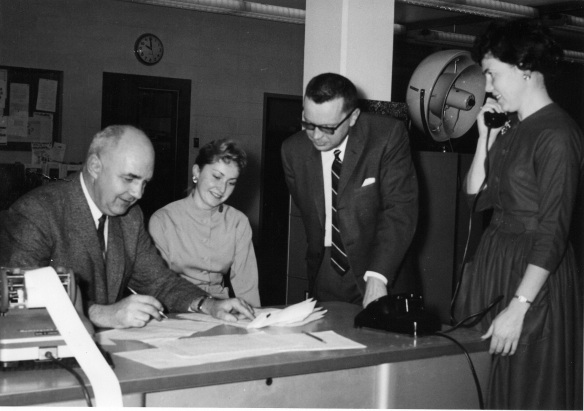 Ted Youngberg and Election Staff 1965