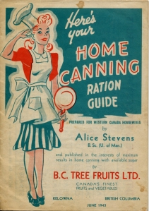 Home Canning Ration Guide Cover