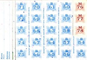 Ration Book coupons