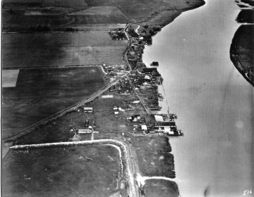 Vancouver and Acme (top) Canneries on Sea Island, ca. 1932.  City of Richmond Archives Don Gordon collection