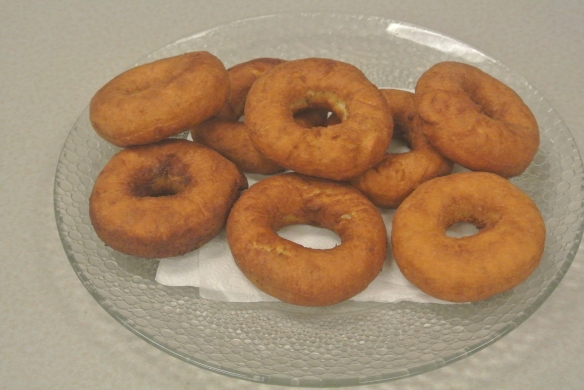 A tasty plate of homemade doughnuts using the 1930 recipe. (Graham Turnbull photograph)