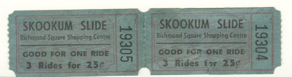 Tickets for the Skookum Slide.
