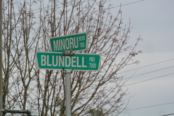 Street signage in Richmond. Where do those names come from? (Graham Turnbull photograph)