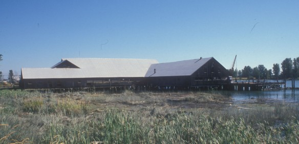 Britannia Shipyard area, 1988. City of Richmond Archives, Heritage Advisory Committee, File 2-1-3