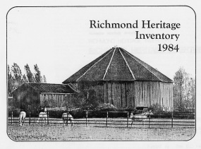 Cover of the first Heritage Inventory for Richmond, 1984. City of Richmond Archives GP 34