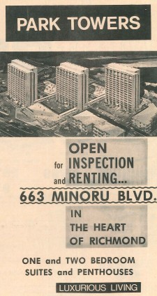 Advertisement in Richmond Review newspaper, November 10, 1972. City of Richmond Archives newspaper collection