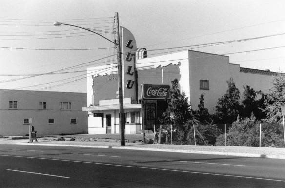 Assessor's photograph of Lulu Theatre, 1958. City of Richmond Archives Photograph 1988 18 31