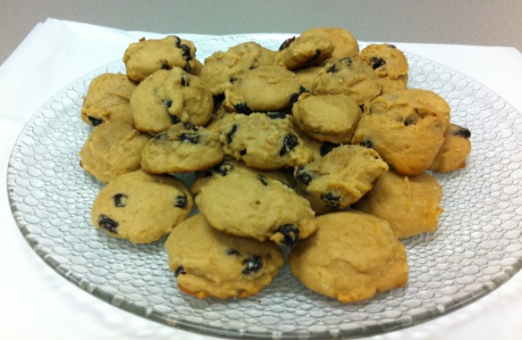 A plate of hermit cookies hot out of the oven. (John Campbell photograph)