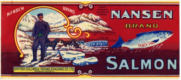Nansen Brand with dog sled and trapper